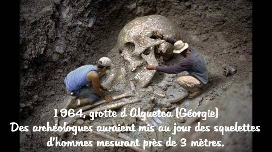 Squelettes de geants en georgie